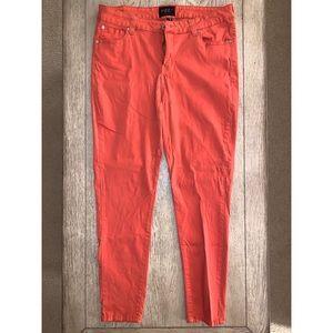 Rust Orange Skinny Jeans